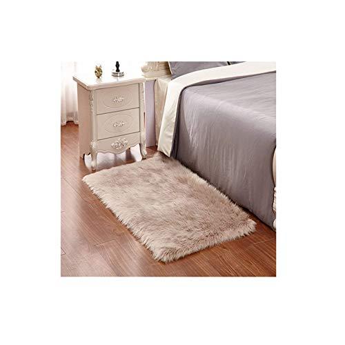 Monthly tappeto faux fur morbido soffice tappeto peloso faux montone soggiorno camera da letto decorazione 60 x 90 cm / 23,6 x31.4 pollici(w) x (l)( marrone)