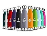 Baomay Bottiglia Termica per Acqua in Acciaio Inox, Senza BPA, Borraccia Sportiva Sottovuoto a Doppia Parete - 350ml, amichevoli per Gli Sport all'Aria Aperta, Scuola,Palestra, Yoga