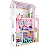 Small Foot by Legler Elevator and Balcony 14 Doll on Three Storey Dolls House Furniture, Open Sides for easy Playability