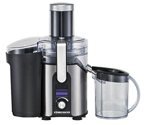 ES 850/E Entsafter für Obst und Gemüse (XXL-Einfüllöffnung für ganze Früchte, Soft-Start-System, Edelstahl-Reibe mit feinmaschigem Sieb, 30 min Dauerbetrieb, spülmaschinengeeignet) Edelstahl
