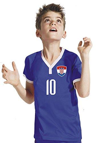 Kroatien Kinder Trikot - Hose Stutzen inkl. Druck Wunschname + Nr. BBB WM 2018 (128)