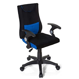 HJH Office Kiddy Pro Al 670470 Silla de oficina Niño Multicolor (Negro/Azul) 40x50x97 cm