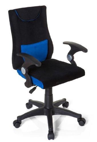 hjh OFFICE 670470 Kinderdrehstuhl Bürostuhl KIDDY PRO AL blau, Kinderdrehstuhl für Schulanfänger, kindgerechte Ausführung, ergonomischer Kinderschreibtischstuhl, Kinderbürostuhl höhenverstellbar, Jugendstuhl