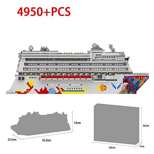 HLDX Große Cruise Modell bausteine   Set 3D Modell - 4950+ stücke Nano Mini bausteine   DIY Spielzeug Kinder männer und Frauen Geburtstagsgeschenk