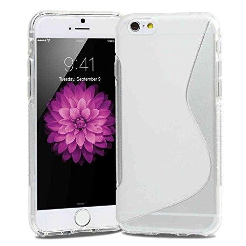 Slim S-LINE TPU Silikon Schutzhülle 14 cm (5,5 Zoll) für Apple iPhone 6 Plus Schale Vollfarbig rot Transparent