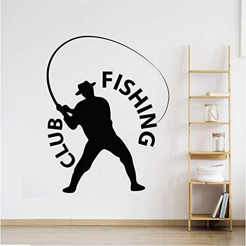 Syssyj Angeln Fischer Wandaufkleber Angeln Club Logo Wand Fenster Aufkleber Wohnkultur Fisch Entspannen Aktivität Vinylwand Rs 45 * 57 Cm
