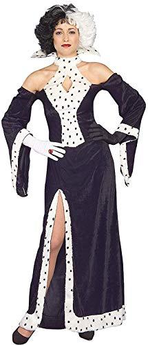 Erwachsene Damen Weihnachten Dalmatiner Cruella Kostüm Hund Liebe Diva Kostüm - Hund Kostüme Erwachsene Uk