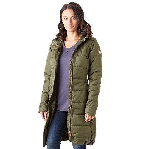 Regatta Damen Fermina Ii Quilted Water Repellent Insulated Hooded Jacke, Grün (Dark Khaki), 42 EU (Herstellergröße: 16) -