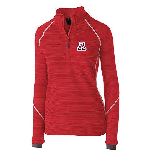 Ouray Sportswear NCAA Arizona Wildcats Women's Deviate Pullover Jacket, Scarlet, Large