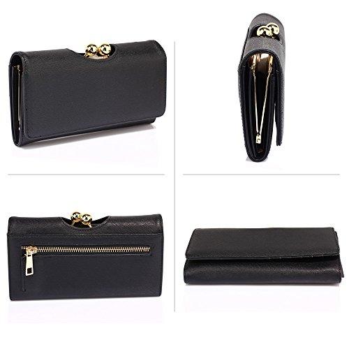 TrendStar Frau Münze Geldbörse Damen hoch Qualität Entwerfer Brieftaschen Mädchen Kredit Karten Halter Schwarz 1