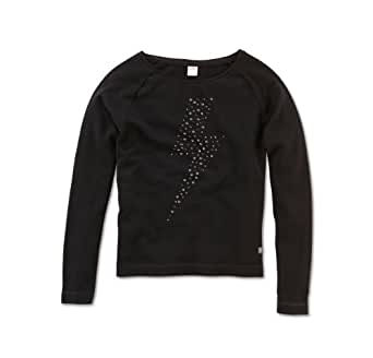 s.Oliver Pull Col ras du cou Manches longues Fille - Noir - Schwarz (9999) - FR: 15 ans (Taille fabricant: 170/176)