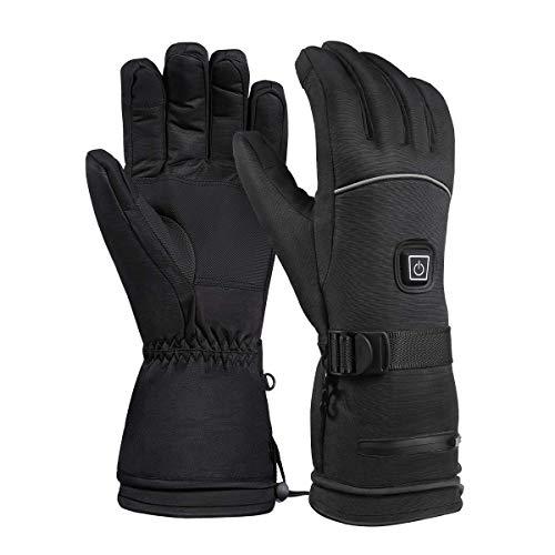 Beheizte Handschuhe Winter-Ski-Handschuhe elektrisch beheizt warme Handschuhe 3 Ebenen Temperatur Handsteuerung Wärmer für Skilaufen Radfahren Jagd Angeln
