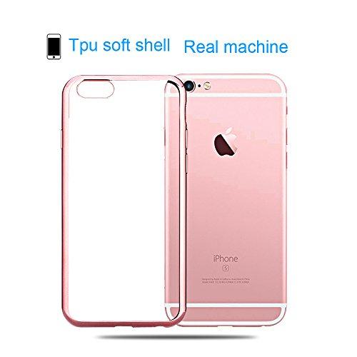 iPhone 6S Hülle, iPhone 6 Hülle, SpiritSun Transparent Handy Hülle für Apple iPhone 6 / 6S (4.7 Zoll) Weich TPU Silikon Schutzhülle Niedlichen Muster Schale Tasche Ultradünnen Etui Anti-stoß Kratzfest Grau