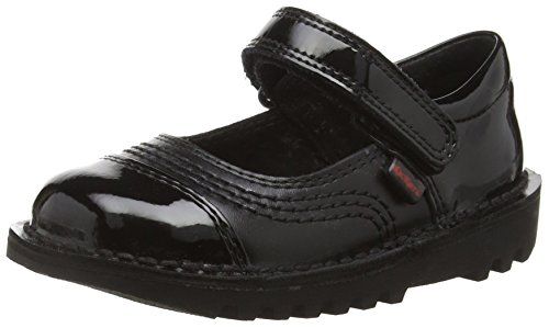 Kickers Girls Kick Pop Infant Mary Jane, Black (Black), 12 Child UK 30 EU