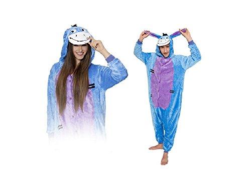 Onesie Blue I-Aah Eeyore Esel M Große Cosplay Kostüme Pyjama Erwachsene