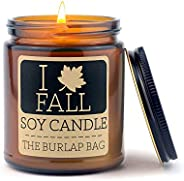 The Burlap Bag 9oz Soy Fall Candles