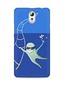 Amez designer printed 3d premium high quality back case cover for Lenovo Vibe P1M (Ladder fly)