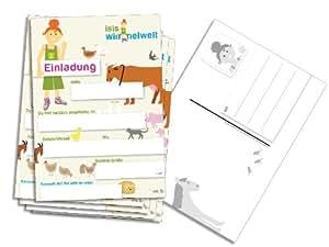 Einladungskarten auf dem bauernhof 6er pack for Amazon einladungskarten