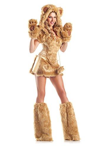 shoperama Sexy Fell-Kostüm GOLDEN Bear - 7-teilig, Größe:XXS