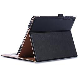 """ProCase Étui pour ASUS ZenPad 3S 10 Z500M 9.7 Pouces, Smart Cover Case Housse Coque avec Support Fonction et Veille/Réveil Automatique pour Tablette ASUS ZenPad 3S 10 Z500M 9,7"""" Andriod 2016 -Noir"""