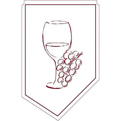 Weinmanschette Romeo Bordeaux aus Tissue 9-lagig, 100 x 65 mm, 150 Stück