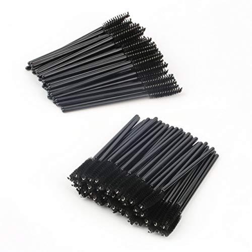 100 Stück Einweg-One-Off Wimpern Mini-Bürsten Mascara-Stab-Applikatoren Make-up Pinsel-Großhandel Schönheit Zubehör (schwarz) DEjasnyfall