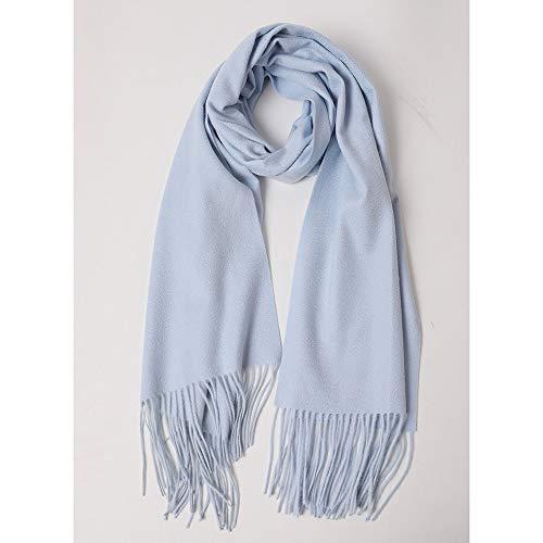 Junjiagao Damen Schal wellig Volltonfarbe Wolle wild lang warm dick Schal Größe 40 * 180cm (Farbe : Rosa, Größe : Einheitsgröße)
