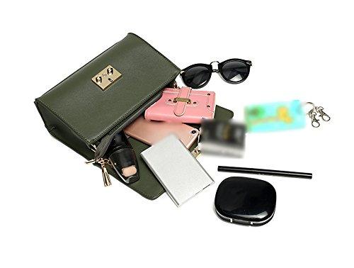 Mini pacchetto semplice semplice delle signore, versione coreana dello zaino spostato sulle spalle, borse, piccolo sacchetto quadrato della catena ( Colore : Verde ) Grigio chiaro