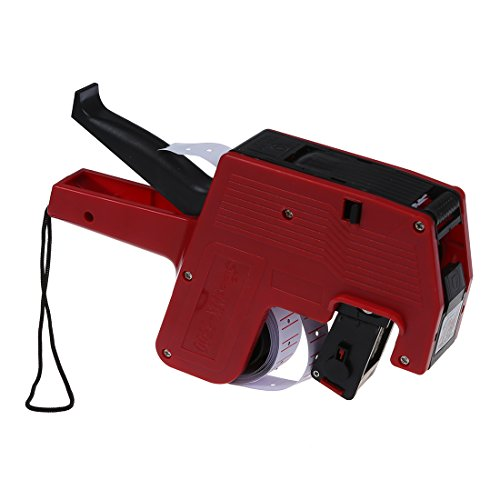 Preis Drucker - Generisches Preisauszeichner set MX-550 + 2 Tinte + 400 Etiketten Etikettier Preispistole Farbe:Rot