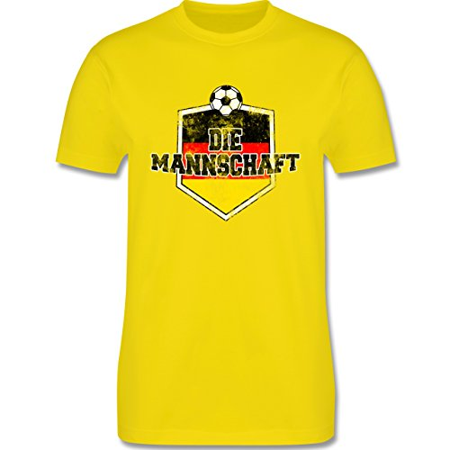EM 2016 - Frankreich - Deutschland- Die Mannschaft Vintage - Herren Premium T-Shirt Lemon Gelb