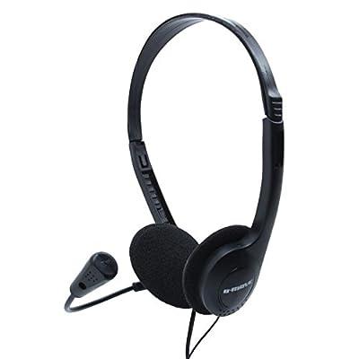 B-Move BM-AUC01 - Auriculares de diadema abiertos con micrófono, color negro