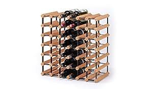"""RAXI - Casier à bouteille de luxe en bois et métal modèle """"Classique"""", bouteilles x42"""