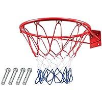 Montado en la pared aro de baloncesto, aro de baloncesto juvenil, la plataforma de tiro anillo estándar de interior, aro de baloncesto de los niños al aire libre, puede lanzar bolas estándar, duradero