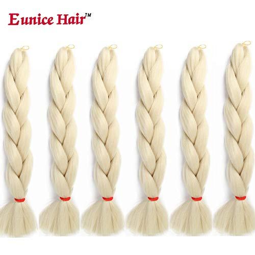 6 Packs Eunice Hair Jumbo Flechten Hair Extensions Colorful Kunsthaar Kanekalon Haar für Heimwerker Crochet Box Zöpfe 100 g/pcs 61 cm (#613)