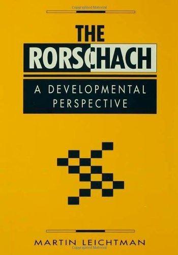 The Rorschach: A Developmental Perspective by Leichtman, Martin (1996) Hardcover