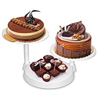 Uten Cake Decorate Display Stand, Cake Baking Decor Tools for Wedding Birthday Christmas Decoration