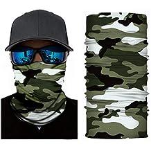 4170d92f6ee5 Sereney 3D Multifonctionnel Camouflage Cagoule Ski Bandana Coupe-Vent  Balaclava Moto Écharpe Magique Microfibre Bandeau