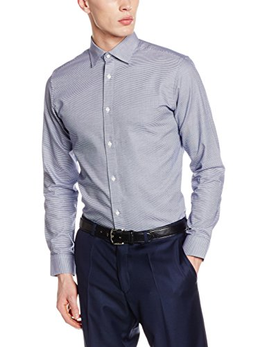 SELECTED HOMME Herren Langarmshirt Shdtwotim-Luca Shirt LS NOOS Weiß (white Checks:blue)