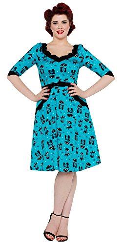 Voodoo Vixen -  Vestito  - Donna blu Small