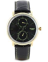 FOCE Analogue Black Dial Men's Dome Glass Watch - [FC11GGL-BLACK/G]