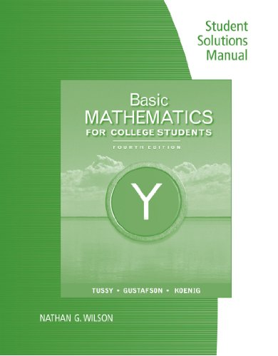 Student Solutions Manual for Basic Mathematics for College Students, 4th