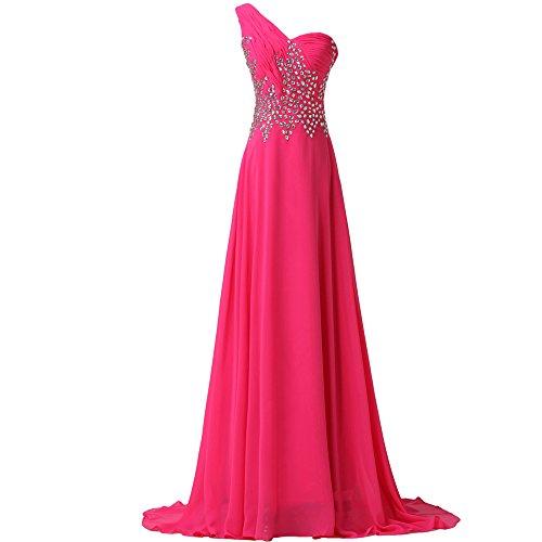 Bridal_Mall -  Vestito  - linea ad a - Senza maniche  - Donna Pesca