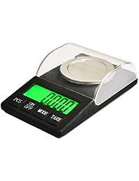 SODIAL Balanza para Joyas con Diamantes 300 G/0.001 G/Báscula electrónica – Color
