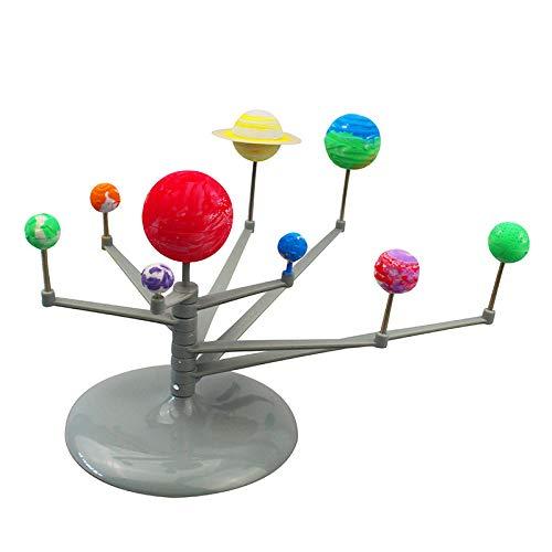 Zerodis Sistema Solar Planetario DIY Modelo Astronómico Bola Luminosa los Nueve Planetas Planetario Modelo de Enseñanza Ciencia Aprendizaje Juguetes Educativos para Niños