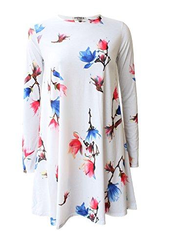 Fashion & Freedom Damen Kleid Cream Tulip