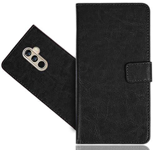 DOOGEE Mix 2 Handy Tasche, FoneExpert Wallet Case Cover Genuine Hüllen Etui Hülle Ledertasche Lederhülle Schutzhülle Für DOOGEE Mix 2