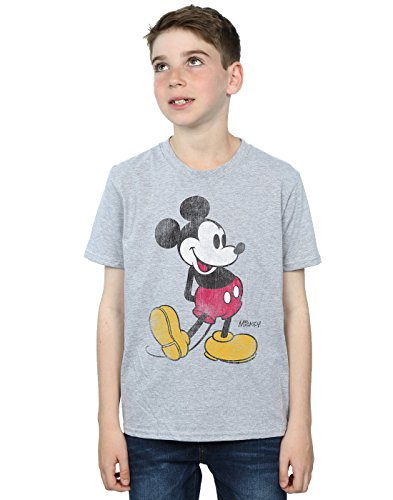 Disney Jungen Mickey Mouse Classic Kick T-Shirt 5-6 Years Sport Grey -