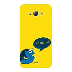 Hamee Disney Pixar Finding Dory Official Licensed Designer Cover Hard Back Case for Samsung Galaxy J7 - 6 / J7 2016 Edition (Dory / Just Keep Calm)