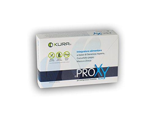 PROXY, integratore alimentare per il benessere della prostata a base di Serenoa Repens, Zucca, Maca e Zinco - 30 compresse - senza glutine, senza lattosio