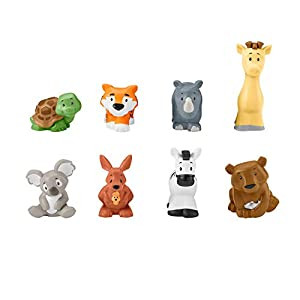 Fisher-Price - Little People Figuras animalitos de safari Juguetes bebés +1 año (Mattel GFL22)
